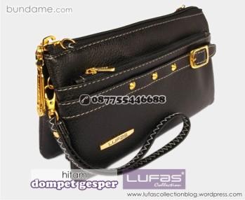 dompet gesper lufas hitam 4