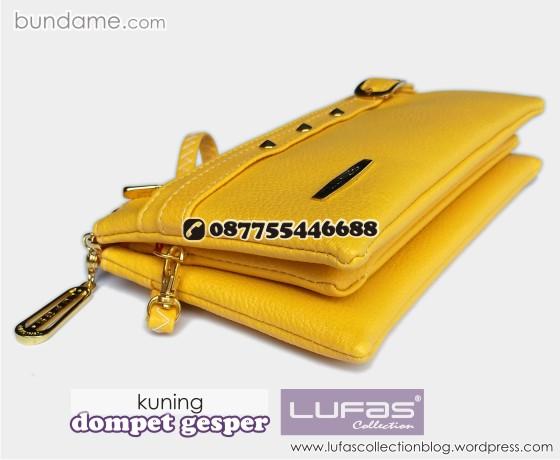 dompet gesper lufas kuning 1