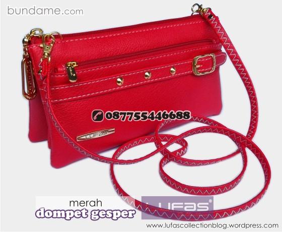 dompet gesper lufas merah 1