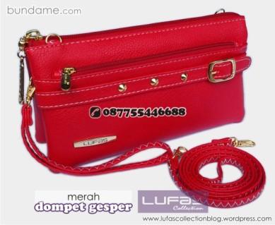 dompet gesper lufas merah 2