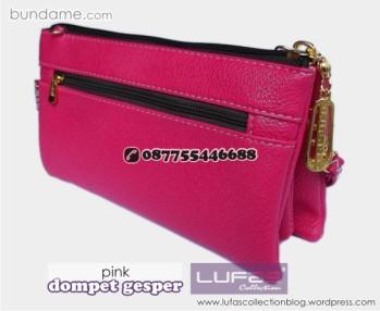 dompet gesper lufas pink 1