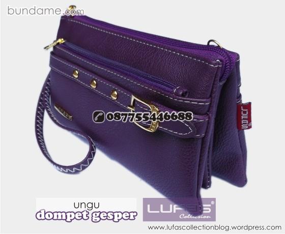 dompet gesper lufas ungu 1