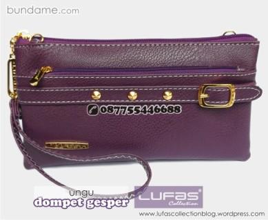 dompet gesper lufas ungu 2