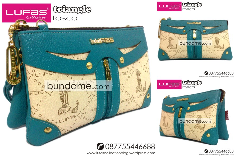 dompet lufas triangle tosca HP