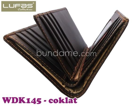dompet kulit lufas WDK145 coklat 2