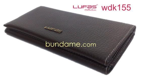 dompet kulit lufas wdk155 coklat tua
