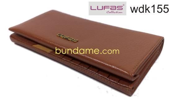 dompet kulit lufas wdk155 coklat