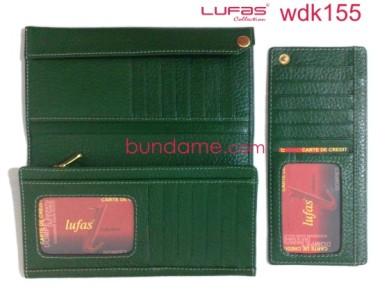 dompet kulit lufas wdk155 hijau 1
