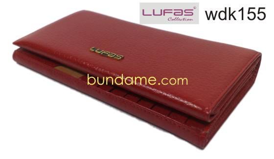 dompet kulit lufas wdk155 merah