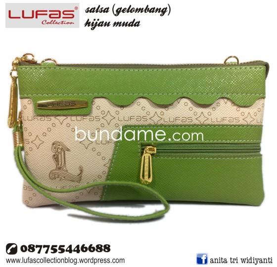 dompet lufas gelombang hijau muda 2