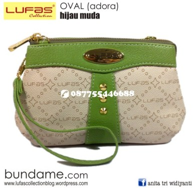 dompet lufas oval hijau muda 2