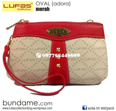 dompet lufas oval merah 2