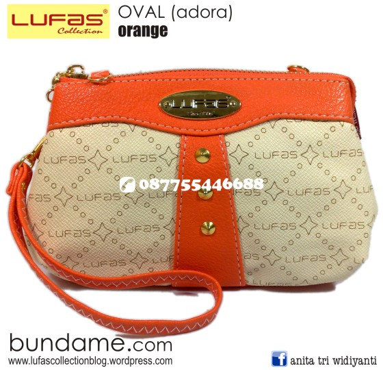 dompet lufas oval orange 2