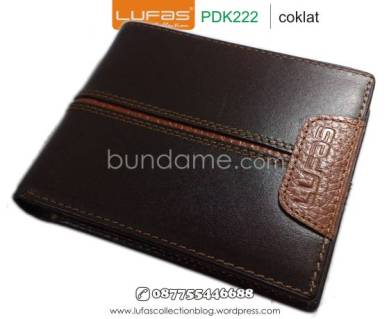 dompet kulit laki pdk222 coklat 1