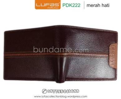 dompet kulit laki pdk222 merah hati 1