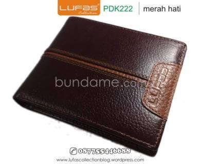 dompet kulit laki pdk222 merah hati 2
