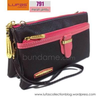 dompet lufas T791 merah jambu