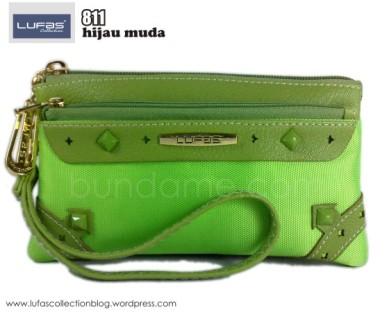 dompet lufas 811 hijau muda