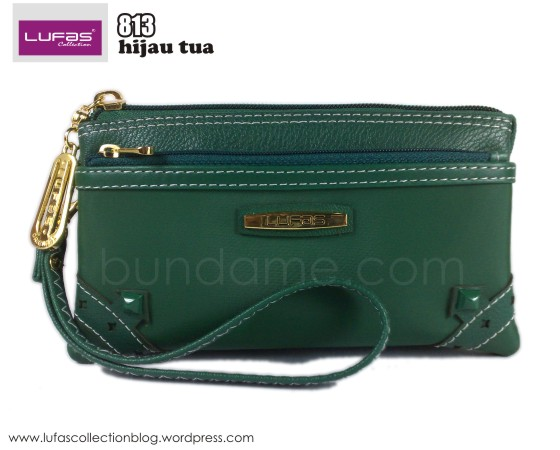 dompet lufas 813 hijau tua