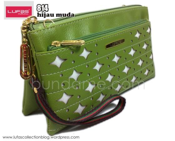 dompet lufas 814 hijau muda