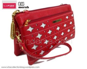 dompet lufas 814 merah