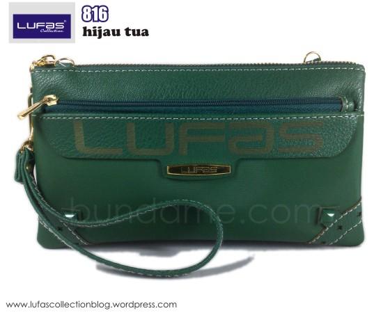 dompet lufas 816 hijau tua 1
