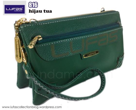 dompet lufas 816 hijau tua 2