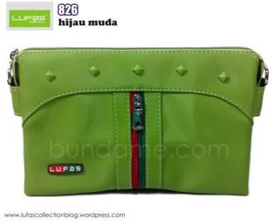tas lufas 826 hijau muda