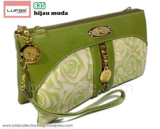 dompet lufas 835 hijau muda