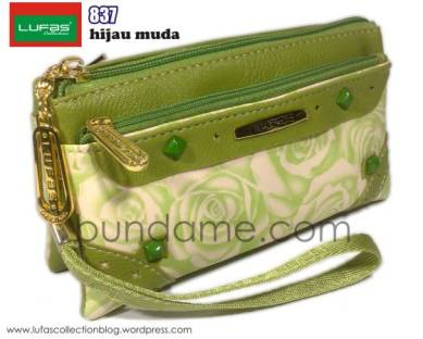 dompet lufas 837 hijau muda