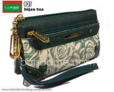 dompet lufas 837 hijau tua