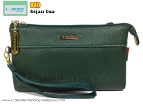 dompet lufas 840 hijau tua