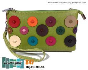 dompet lufas 847 hijau muda