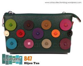 dompet lufas 847 hijau tua