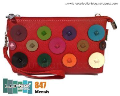 dompet lufas 847 merah