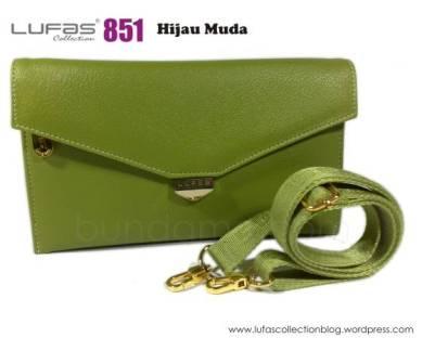 dompet lufas 851 hijau muda