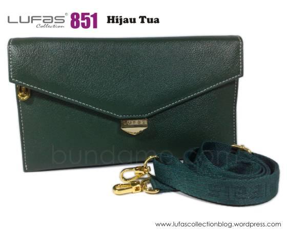 dompet lufas 851 hijau tua