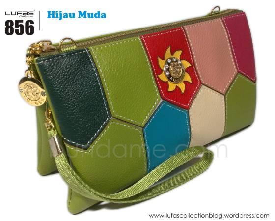 dompet lufas 856 hijau muda
