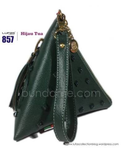 dompet lufas 857 hijau tua