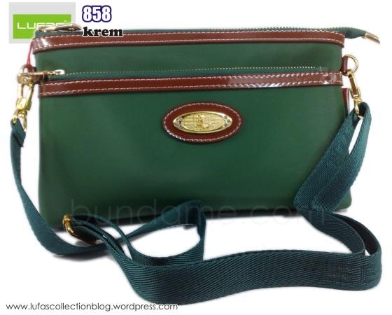 dompet lufas 858 hijau tua