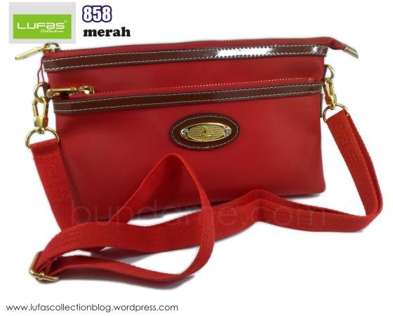 dompet lufas 858 merah