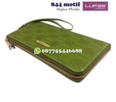 dompet lufas 844motif - hijau muda