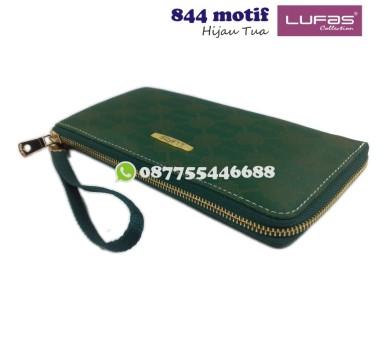 dompet lufas 844motif - hijau tua
