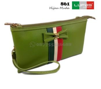 dompet lufas 861 hijau muda