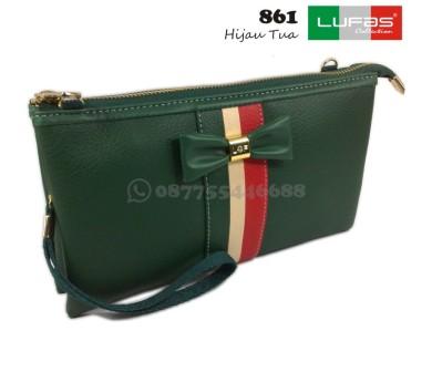 dompet lufas 861 hijau tua
