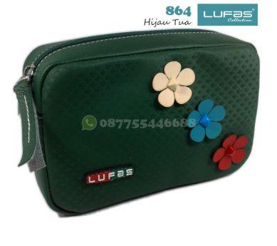 dompet lufas 864 hijau tua