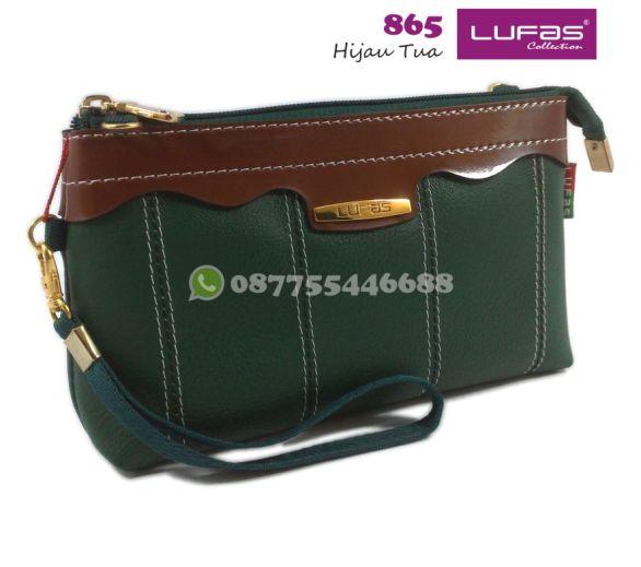 dompet lufas 865 hijau tua