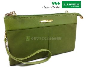 dompet lufas 866 hijau muda