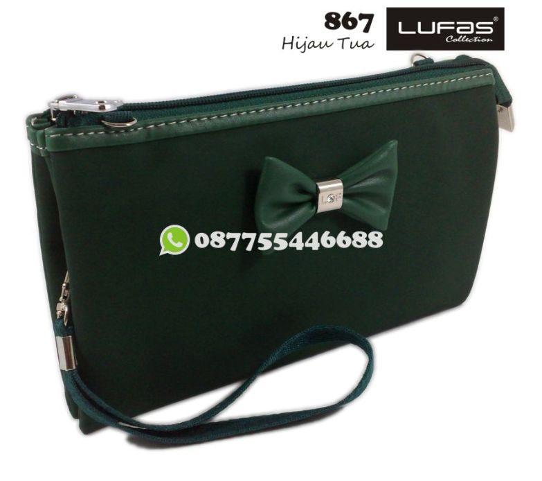 dompet lufas 867 hijau tua