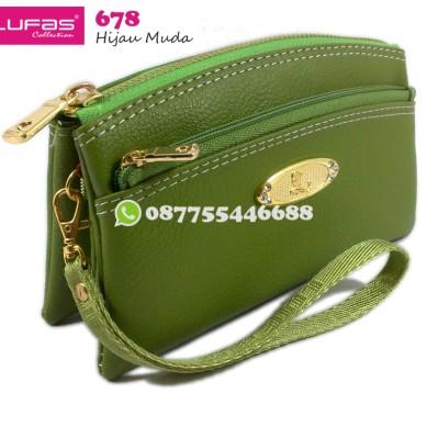 dompet lufas 678 hijau muda